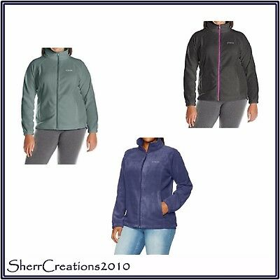 NWT Columbia WOMEN'S Plus Size BENTON SPRINGS FULL ZIP Fleece Jacket