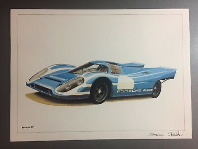 1970 / 1971 Porsche 917 Coupe Print, Picture, Poster RARE!! Awesome L@@K