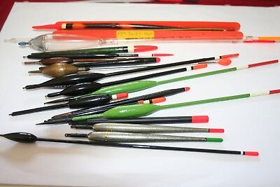 Fishing floats vintage x 19 Middy, Drennan and others