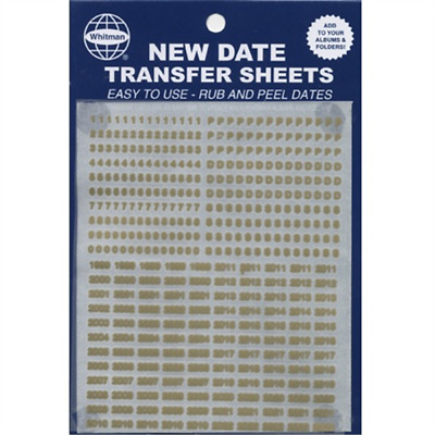 Whitman Gold Date Transfer Sheet 4 Coin Albums & Folders Rub On Date 0794834108