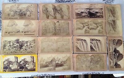 Vintage Stereo-view Stereoscopic Cards x14