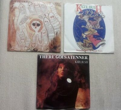 "KATE BUSH: 3x 7"" in pic sleeves Tenner, December, Dreaming"