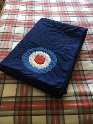 Next Navy Blue Patches bed throw quilt target / Mod / scooter / lambretta design
