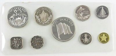 1974 Commonwealth of The Bahamas 9-Coin Proof Encased Set