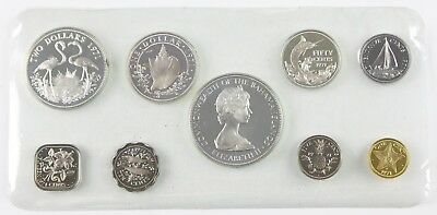 1973 Commonwealth of The Bahama Islands 9-Coin Encased Proof Set