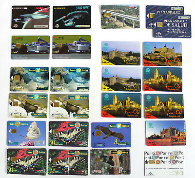 Phone Cards x 25, Telefonica & Mercury, F1, Star Trek, Nature etc