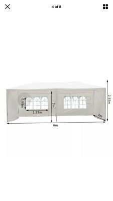 3M X 6M GARDEN GAZEBO TENT MARQUEE OUTDOOR WATERPROOF PARTY AWNING CANOPY Cream