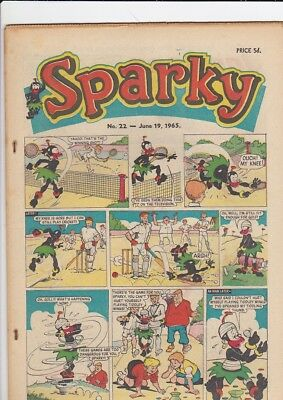 SPARKY #22 June 1965 DC Thomson comic very good