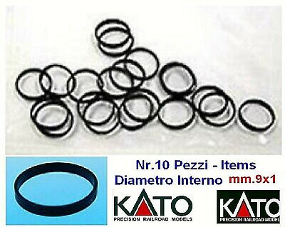 KATO SET Nr.10 ANELLI di ADERENZA mm.4x1 TRACTION TIRE - BAGUES SERRAGE SCALA-N