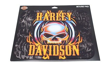 Genuine Harley Davidson Vicious Skull with Flames Mouse Pad Mat MO63999