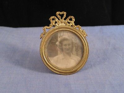 Beautiful Miniature Antique Art Nouveau Gilt Brass Edwardian Photo Picture Frame