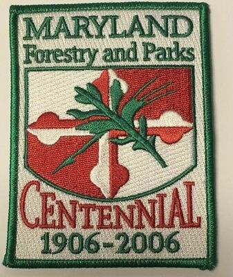 Maryland Forest And Park Service Patch Centennial Commemorative Patch...RARE!