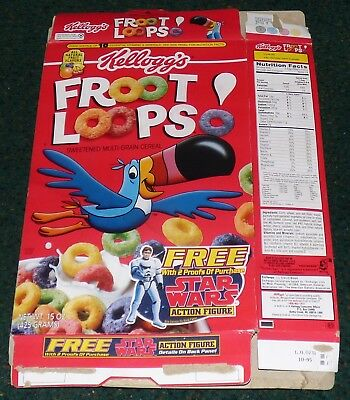 Froot Loops 1995 Cereal Box Kenner Star Wars Han Solo Stormtrooper Action Figure