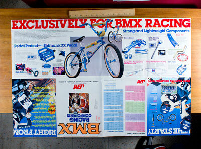Old School 1983 BIG! Fold Out Catalog JBM BMX Araya Kyokuto Takagi Tange Shimano