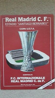 Real Madrid V Inter Milan Uefa Cup Semi-Final 1984-85