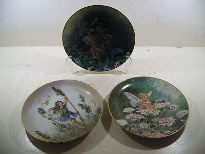 Collectable Plates x 3 - Flower Fairies Collection / Cicely Mary Barker