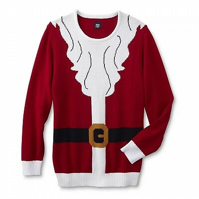 Route 66 Big Men Ugly Christmas Holiday Sweater Santa Claus Suit Red 4XL New