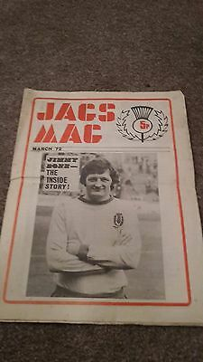 Partick Thistle Newsletter Jags World March 1972