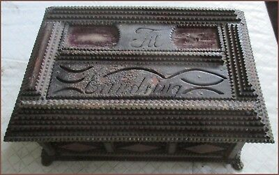 Vintage Tramp Art Wooden Box
