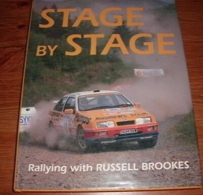 Stage By Stage Rallying With Russell Brooks Hardback Rally Motorsport Book
