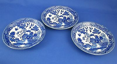 Three (3) Made Japan Blue Willow Saucers