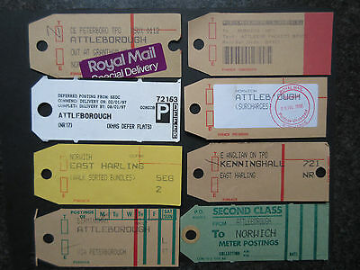 GB Postbag Labels(8) Norwich Related