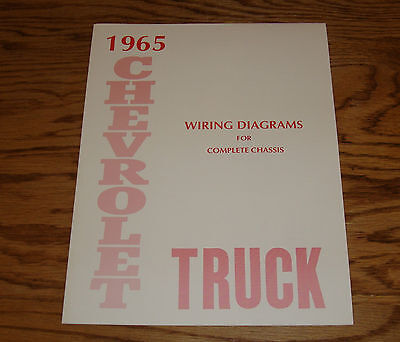 1965 Chevrolet Truck Wiring Diagram Manual for Complete Chassis 65 Chevy
