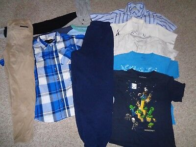 Huge Lot Boys Clothes Hurley Jeans Pants Shirts Minecraft Wardrobe Size 10 12/14