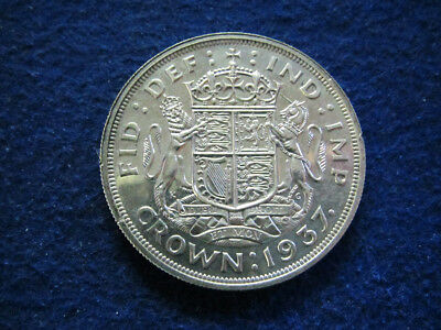 1937 Great Britain Silver Crown - One Year Type - Free U S Shipping