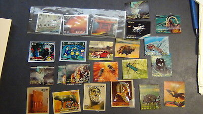 Bhutan stamp collection on Scott Int'l pages to '75 and approval pages, etc