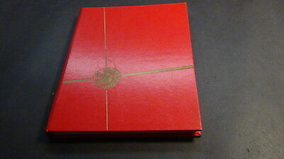 Liecthenstein stamp collection in red stock book w/mnh
