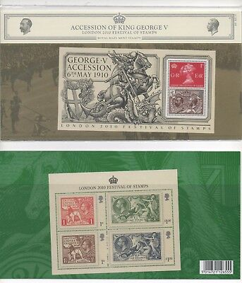 2010 GB Presentation Pack  441 - Accession of King George V (2 Mini Sheets)