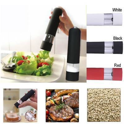 Professional Black and White Electric Salt & Pepper Mill Grinder Set Home Cooks