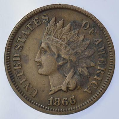 USA - 1866 Indian Head Cent - Scarce date