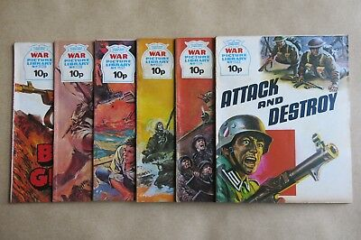 6 x FLEETWAY COMICS, WAR PICTURE LIBRARY - # 1133, 1134, 1135, 1137, 1138 & 1139