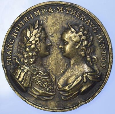 Austria - Maria Thersea 1745 Birth of Archduke Charles Joseph medal by Hamerani