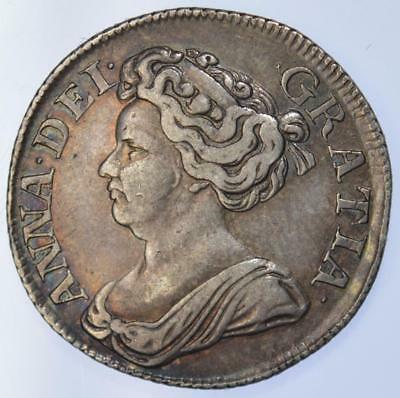 Queen Anne - 1711 shilling - lightly toned and lightly coloured
