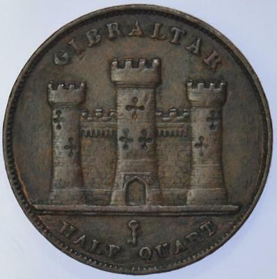 Gibraltar - Queen Victoria 1842 Half Quart Coin - scarce