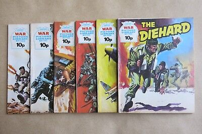 6 x FLEETWAY COMICS, WAR PICTURE LIBRARY - # 1159, 1160, 1162, 1163, 1164 & 1165