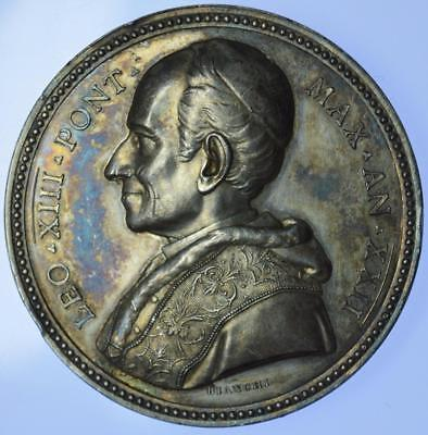 Italy - Pope Leo XIII 1897 Canonisation of Fourier and Zaccaria silver medal