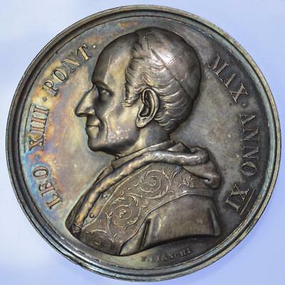 Italy - Pope Leo XIII 1888 Silver Annual medal by Bianchi