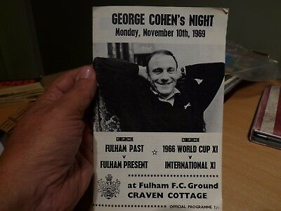 FOOTBALL PROGRAMME - GEORGE COHEN's NIGHT 1969 - FULHAM PAST & PRESENT