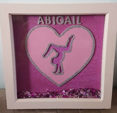Personalised gymnastics medal holder