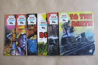 6 x FLEETWAY COMICS, WAR PICTURE LIBRARY - # 1166, 1167, 1168, 1169, 1170 & 1171