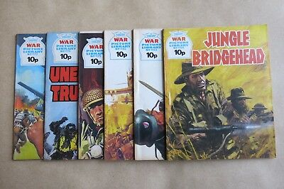 6 x FLEETWAY COMICS, WAR PICTURE LIBRARY - # 1173, 1174, 1175, 1192, 1193 & 1194