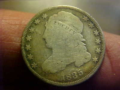 1835 Capped Bust Dime  GOOD  ATTRACTIVE CAPPED BUST TYPE COIN DIME