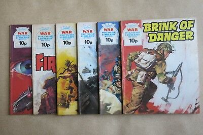 6 x FLEETWAY COMICS, WAR PICTURE LIBRARY - # 1202, 1203, 1205, 1207, 1208 & 1209