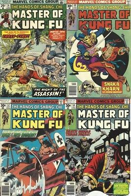 Master of Kung Fu 4 ISSUE LOT | Master of Kung FU 24, 49 54 and 57 | Marvel LOT