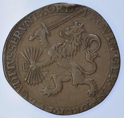 Elizabeth I - 1592 Siege of Steenwijk Anglo Spanish War Dutch Jeton - rare