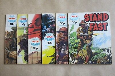 6 x FLEETWAY COMICS, WAR PICTURE LIBRARY - # 1227, 1230, 1232, 1235, 1237 & 1238